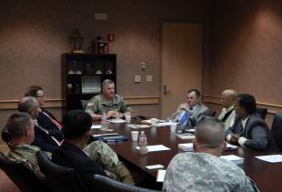 Maj. General Curtis Visits NIMSAT Institute