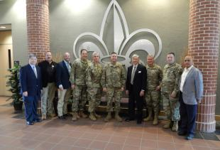 LA National Guard Visits Abdalla Hall Researchers